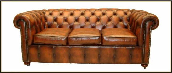 Elegante Uk Chesterfield Sofa Couch 2er 3er Sitzer Leder Im Antik